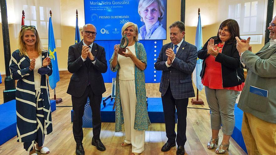 María Neira dedica su Premio Ourensanía a todos los que lucharon contra el COVID