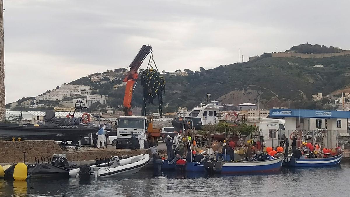 Área costera de Ceuta.