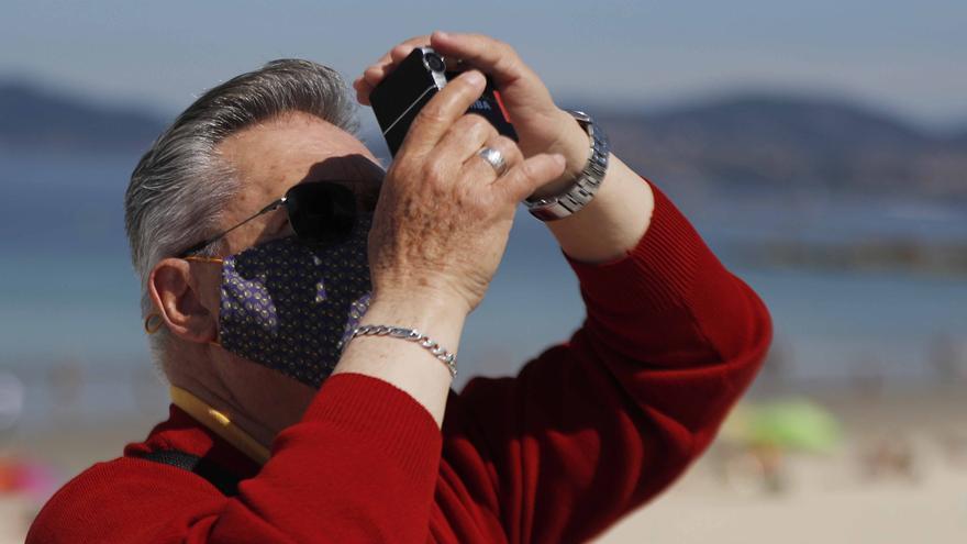 Así se vivió el eclipse solar en Galicia