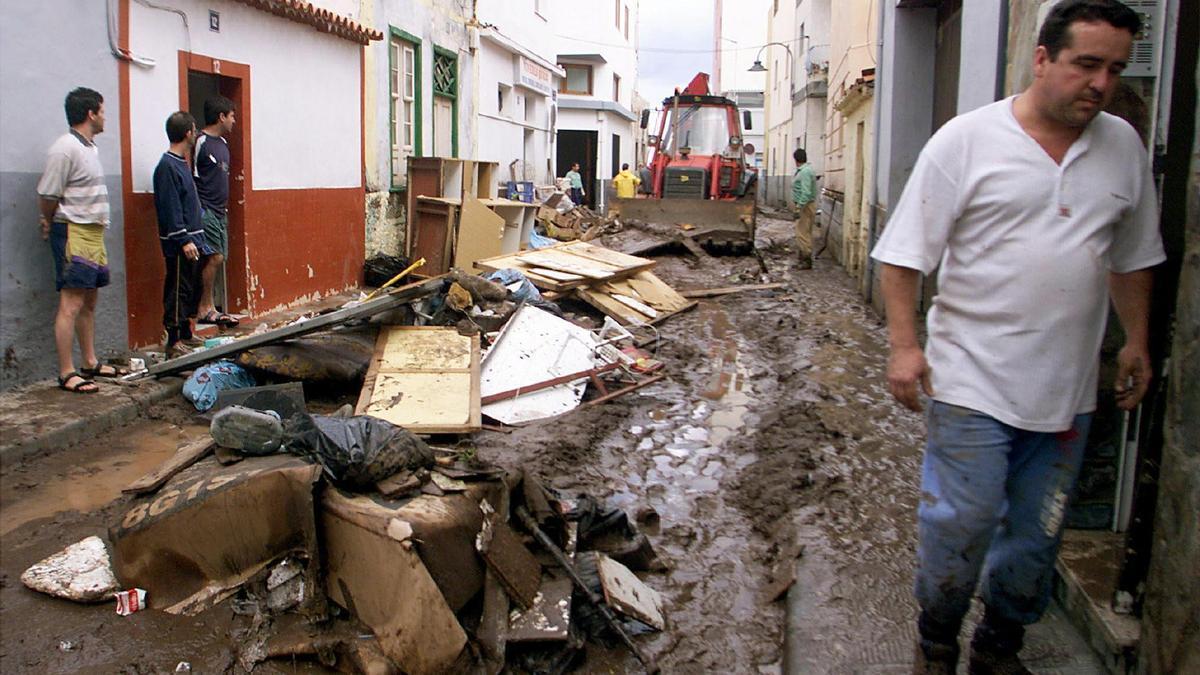 Estado en el que quedó el pueblo de San Andrés tras la riada del 31M.