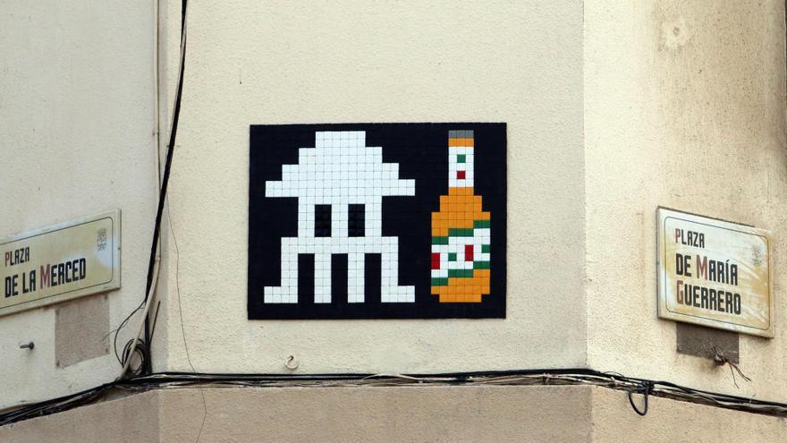 Los mosaicos del artista Invader en Málaga