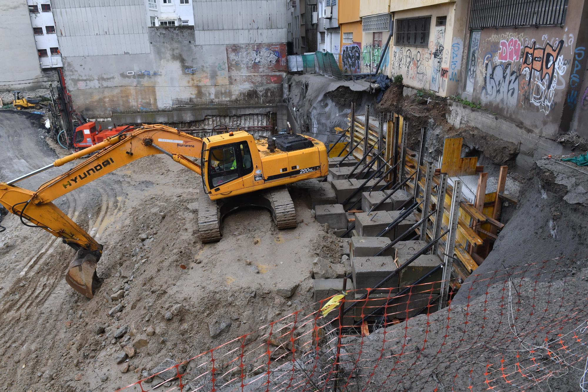 La constructora da por finalizadas las obras de consolidación tras el derrumbe en Rey Abdullah