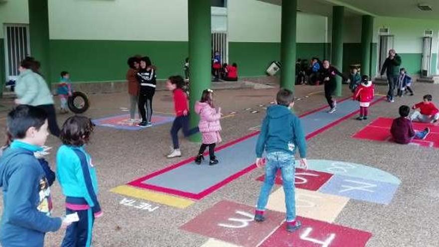 Patios dinámicos en el colegio de Villamayor