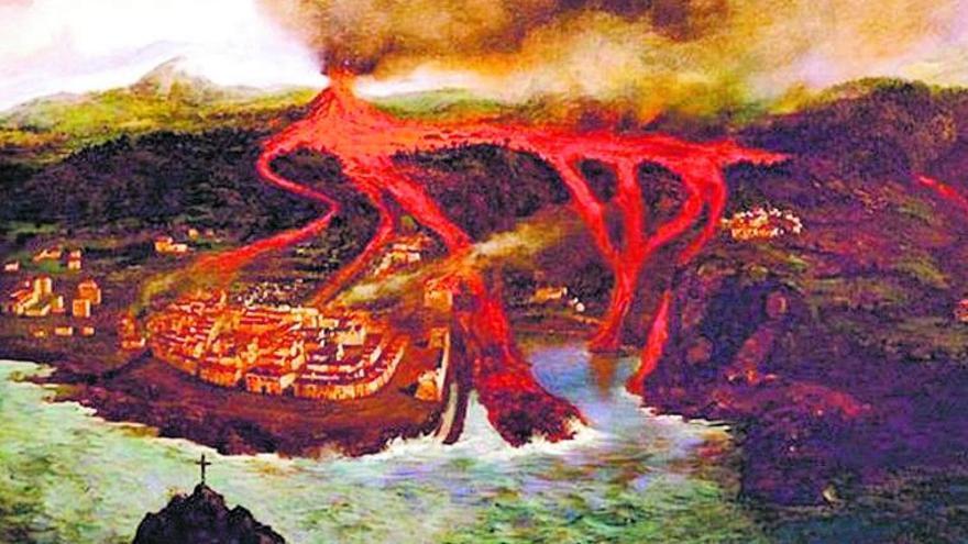 Aquel feroz torrente en Tenerife que redujo Garachico a cenizas