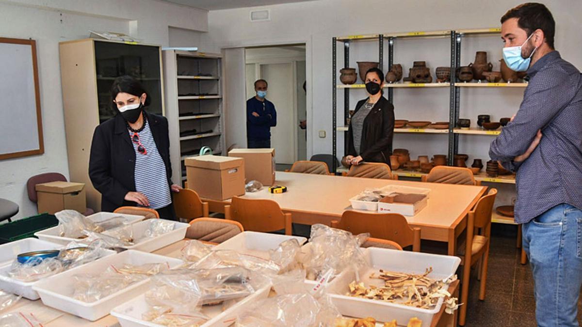 María Antonia Perera, yesterday, at the ULPGC Archeology Laboratory.        LP / DLP