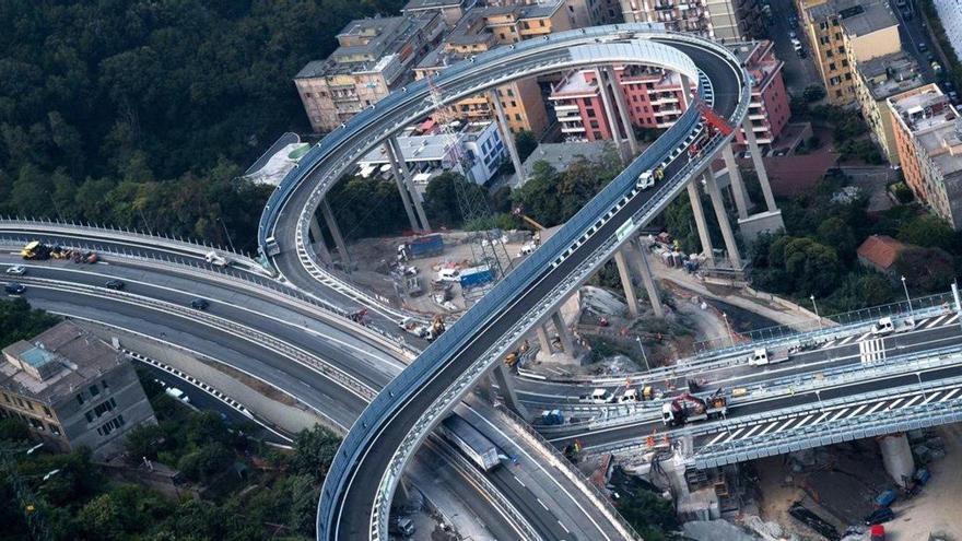 Génova vuelve a estar unida dos años después del derrumbe del puente