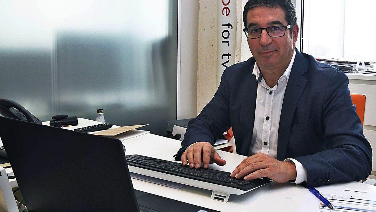 Antonio Rodríguez del Corral, en la sede del Citic en el campus de Elviña.