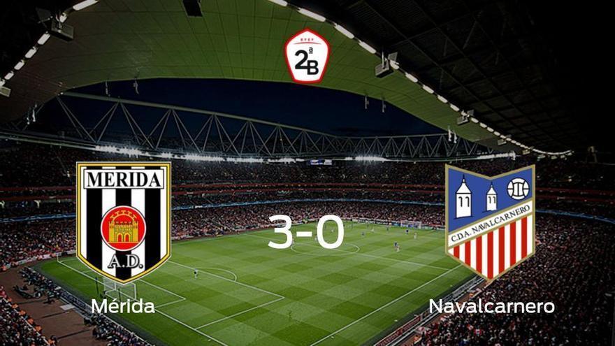 Los tres puntos se quedan en casa: goleada del Mérida AD al Navalcarnero (3-0)