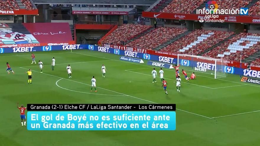 El gol de Lucas Boyé no es suficiente ante el Granada