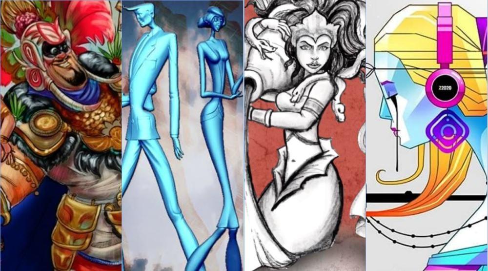 Bocetos de las Fallas de la Sección Primera B
