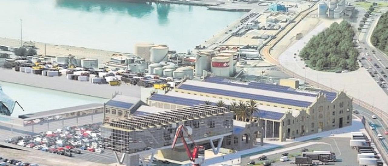 Vista panorámica del proyecto de terminal pública de pasajeros.
