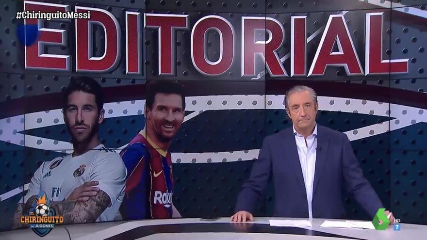 """Pedrerol, sobre su promesa de dimitir """"si Messi y Ramos se van"""": """"Suelo cumplir lo que digo"""""""