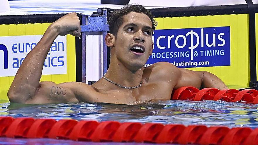 Hugo González, campeón de Europa en los 200 m. estilos