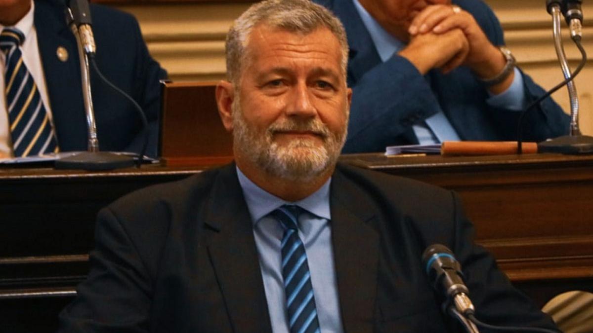 Miguel Arias, en una imagen en el parlamento de la provincia de Corrientes.