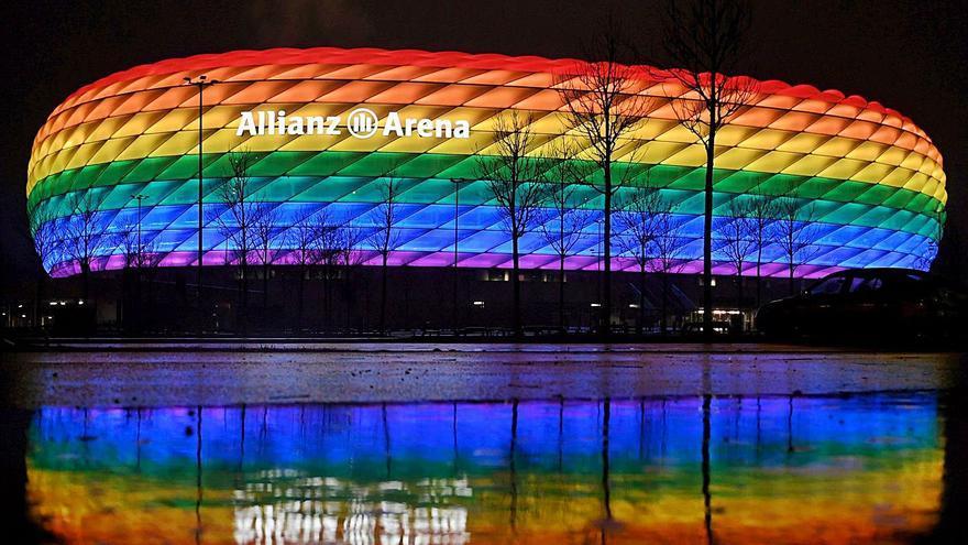 La UEFA veta que el Allianz luzca la bandera arcoíris