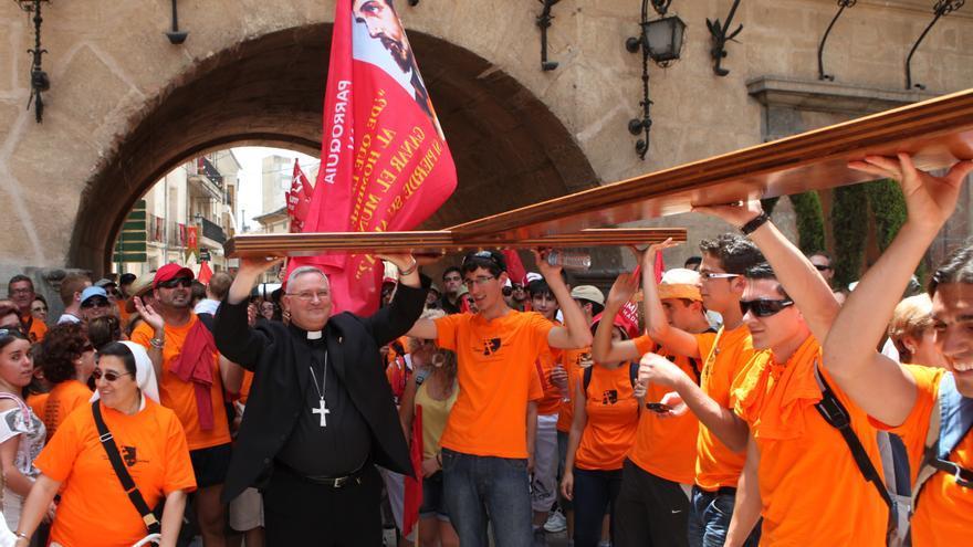 Caravaca recibe este domingo la 'Cruz de los Jóvenes' camino de la JMJ de Portugal