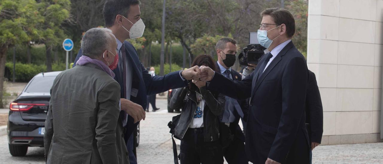 Sánchez y Puig, en el congreso de la UGT durante el pasado mes de mayo en València