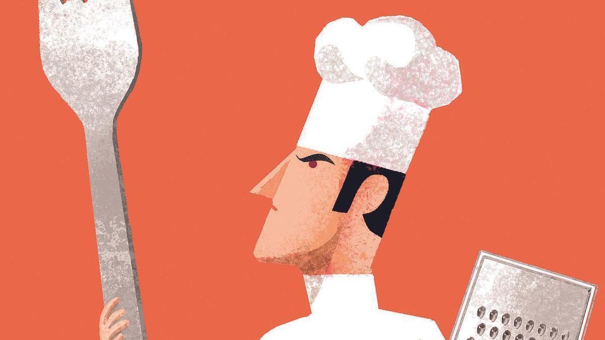 Dibujo de un cocinero.