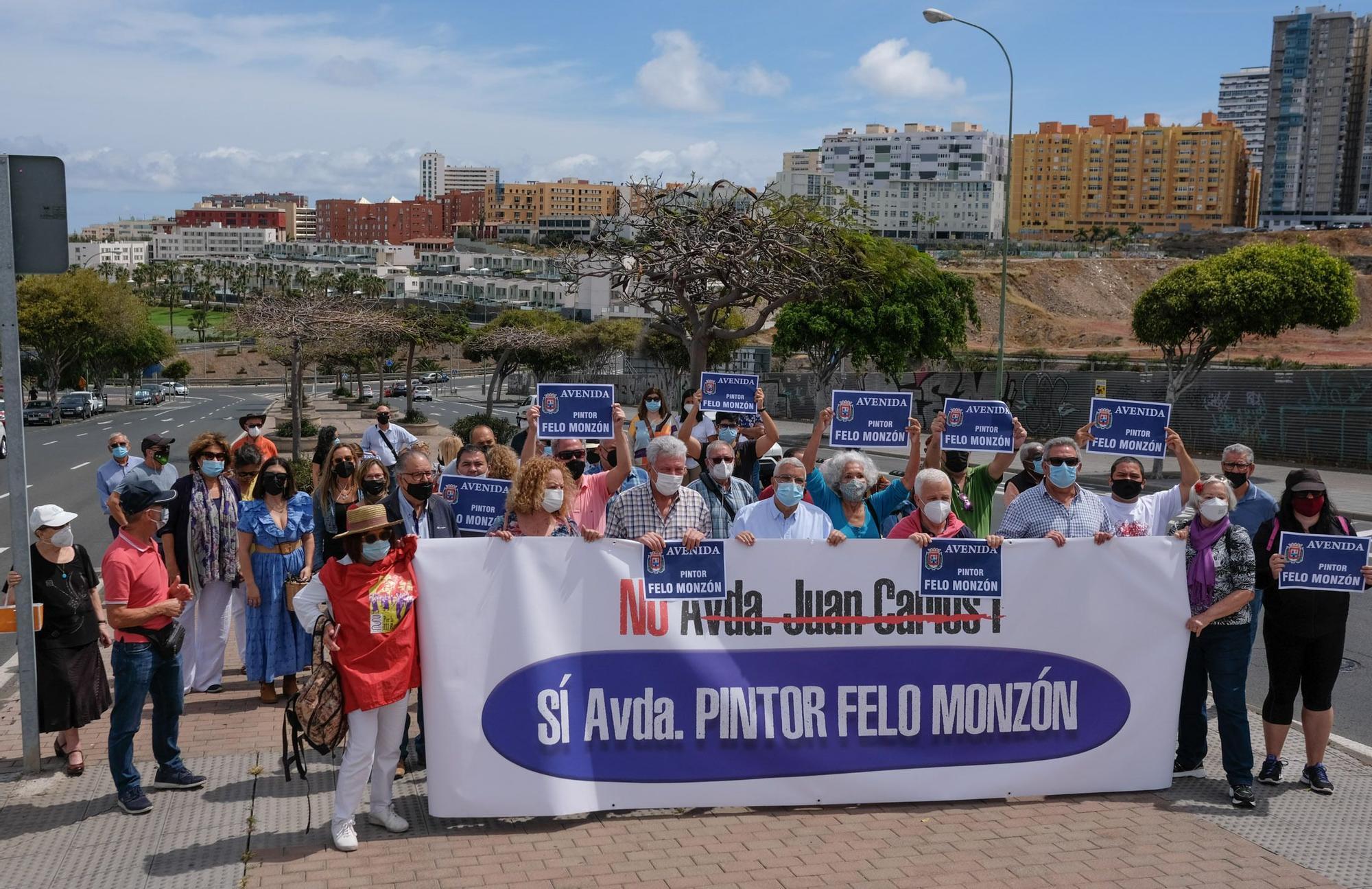 Concentración pro Avenida Felo Monzón