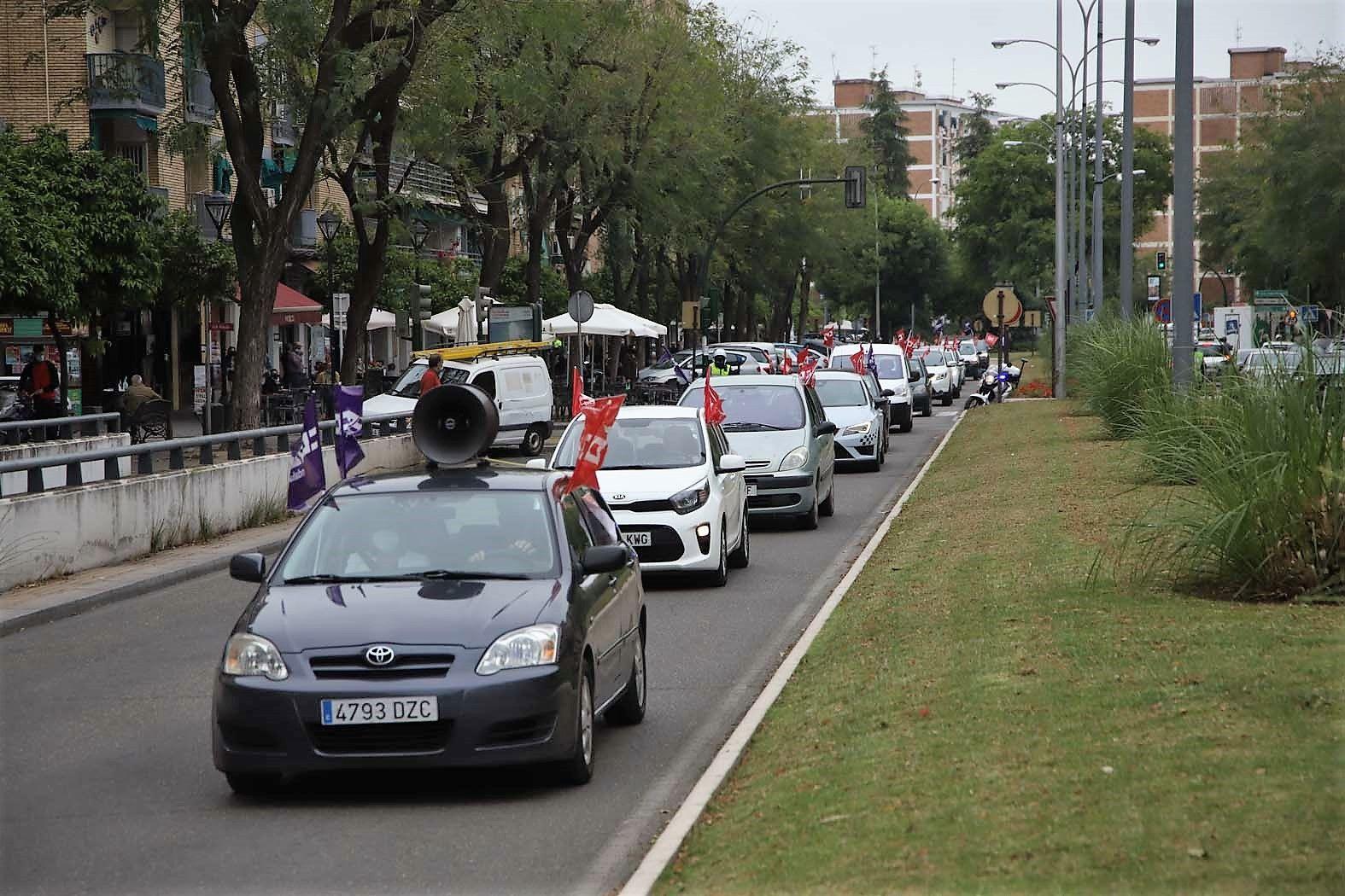 Caravana sindical para exigir al Gobierno que cumpla con sus compromisos