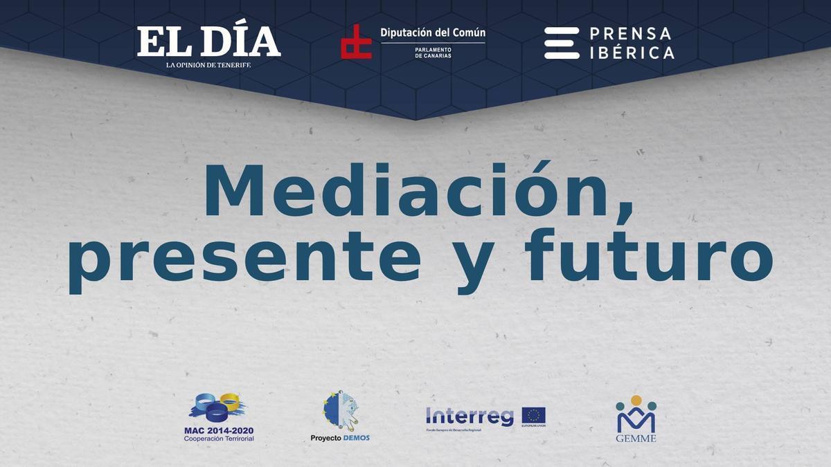 """Portada de la jornada """"Mediación: presente y futuro"""""""
