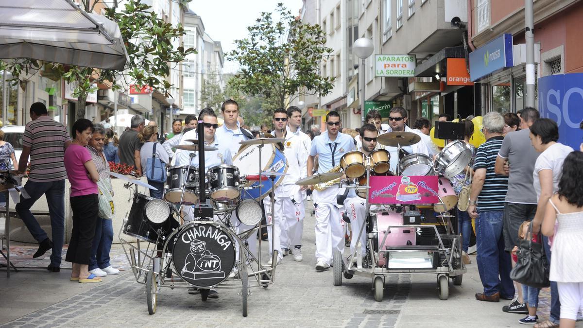 Pascalles durante las fiestas del Santiago Apóstol en Arteixo.