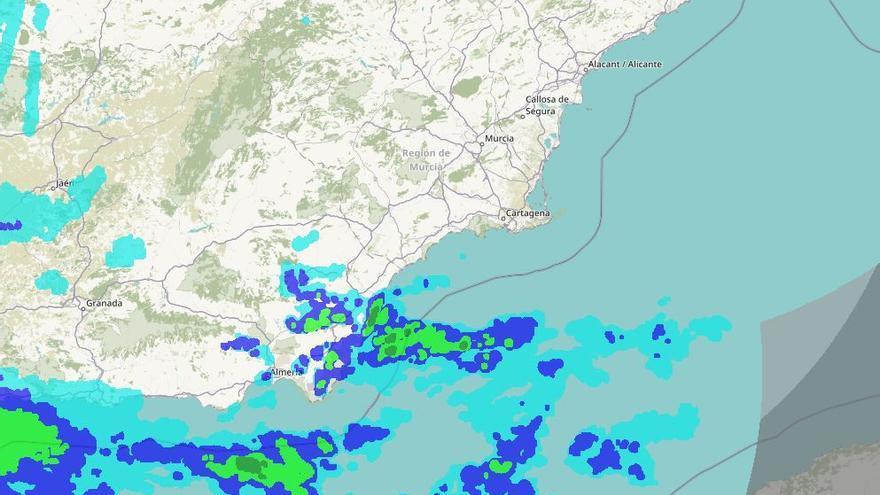 El radar de AEMET para seguir la evolución de las precipitaciones en Alicante está averiado desde hace un mes por una descarga eléctrica