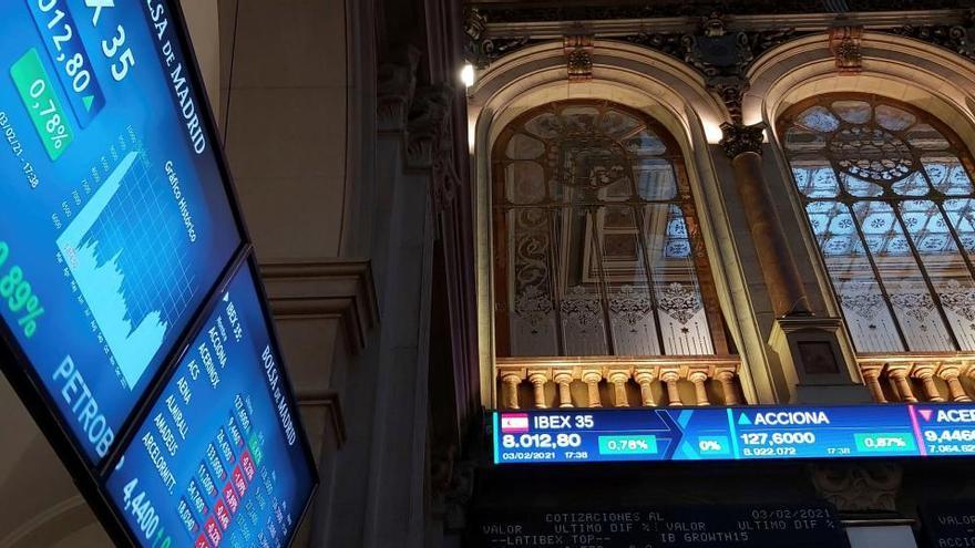 El Ibex 35 sube el 1,37% y recupera los 8.100 puntos