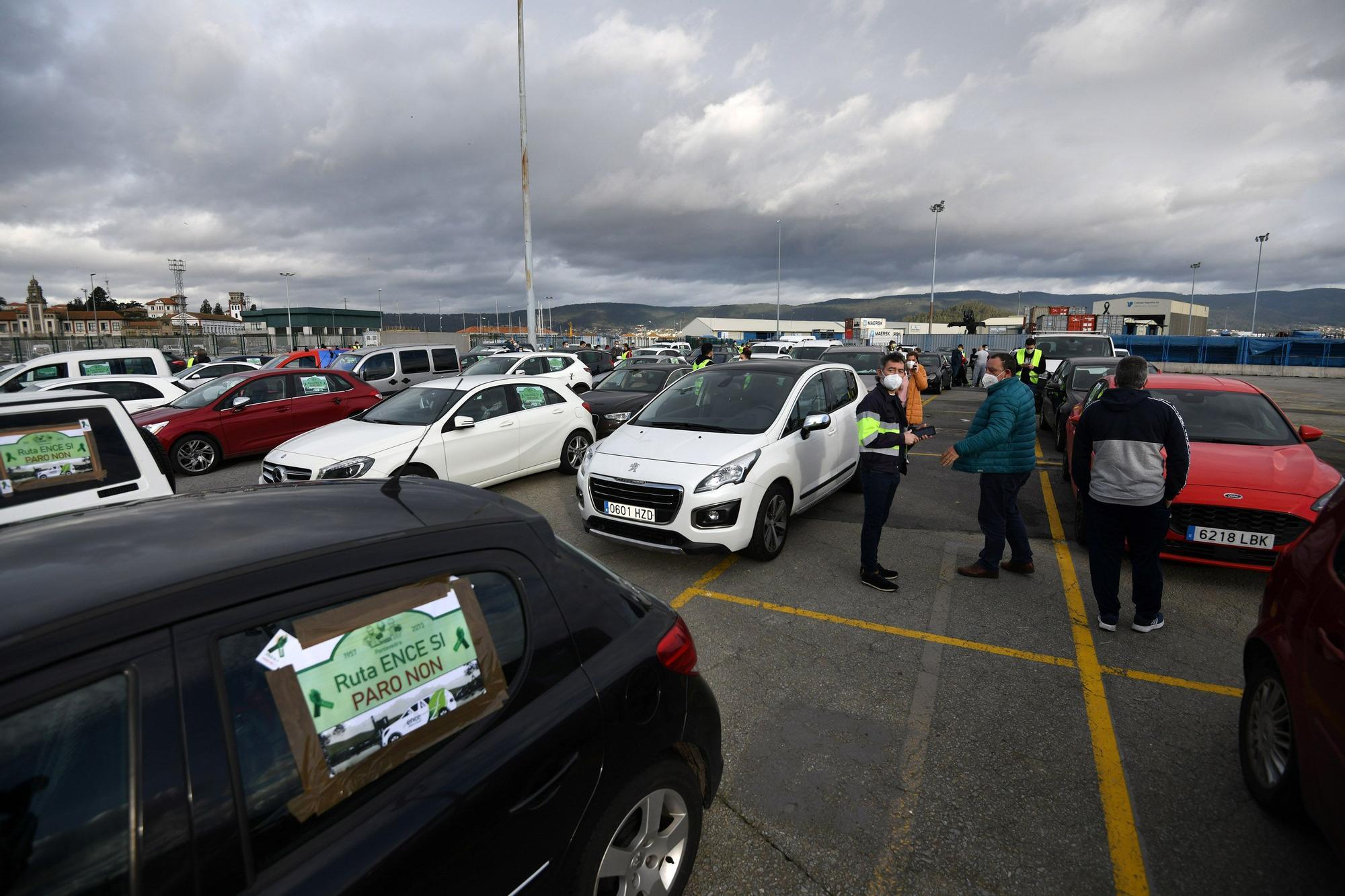 Caravana protesta de los empleados de Ence
