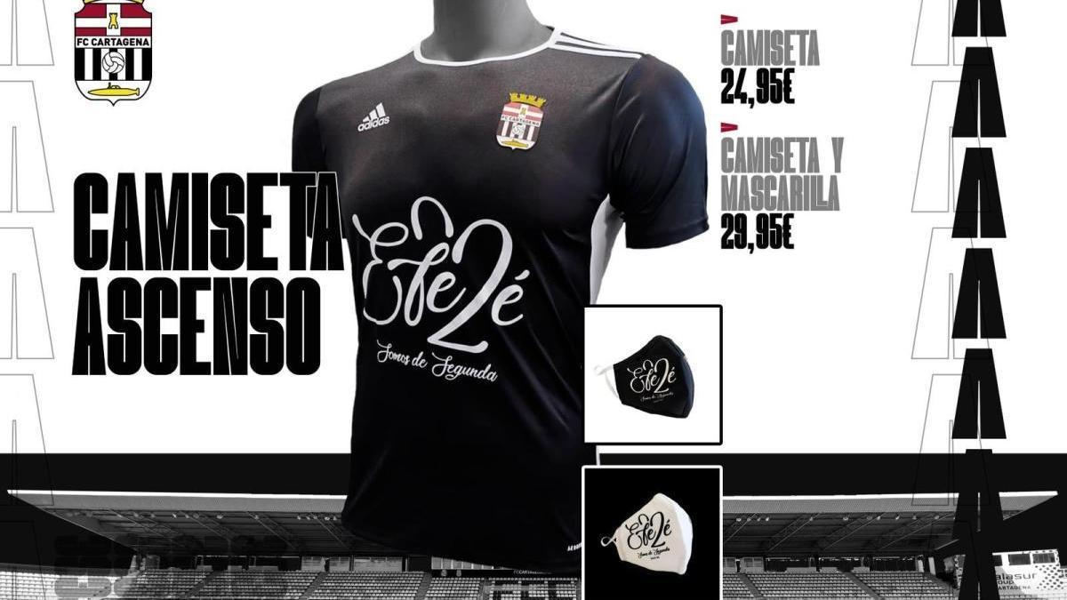 La camiseta del ascenso, a la venta el lunes por 24,95 euros