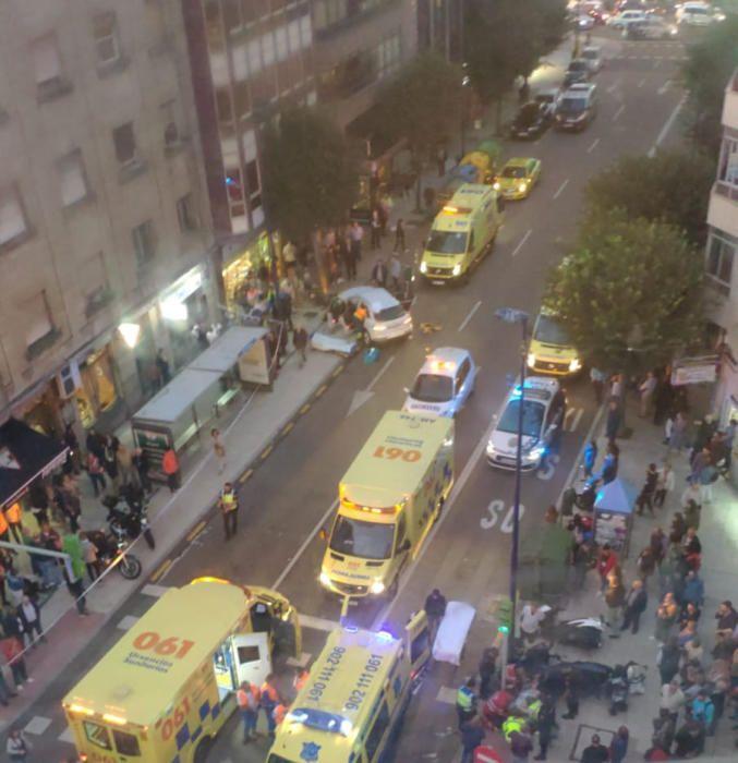 Un conductor arrolla a varias personas en Vigo