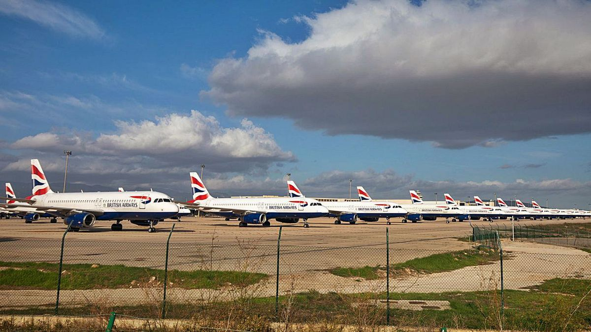 British Airways estaciona sus aviones en Son Sant Joan