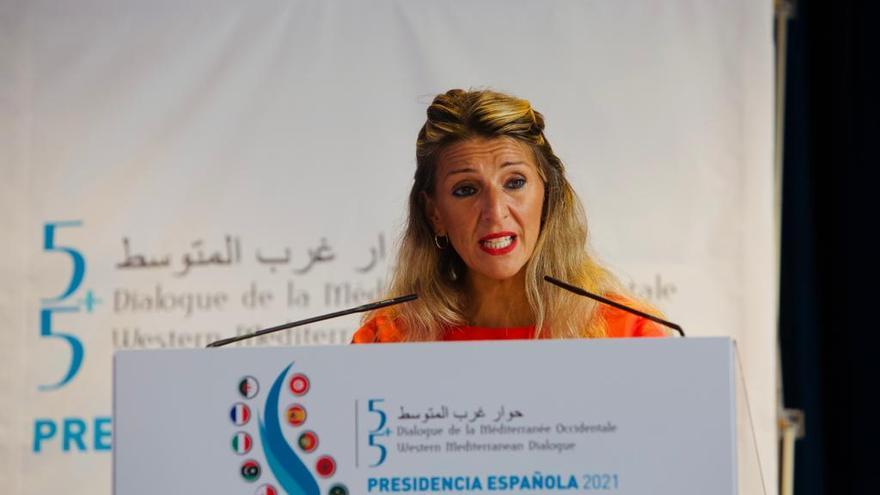 Yolanda Díaz respalda una financiación justa para la Comunidad Valenciana