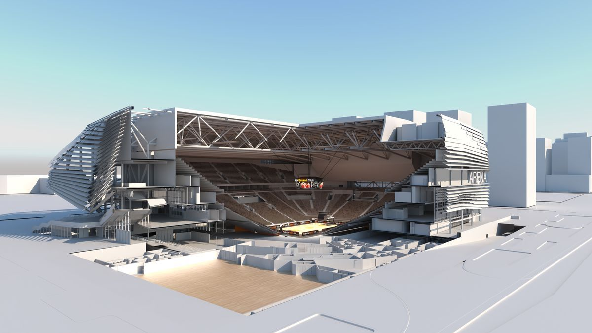 Así será el Casal España Arena de València que ya construye Juan Roig.