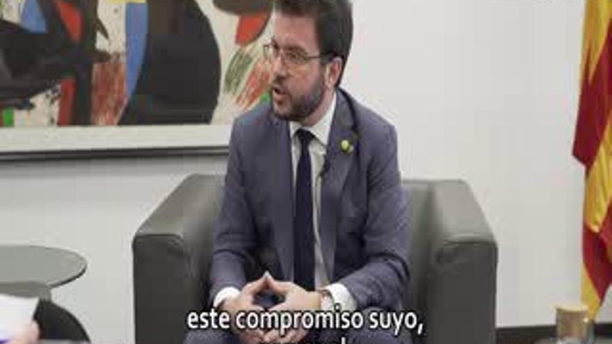 """Pere Aragonès: """"La campaña del 10-N acabó con nuestra confianza en el PSOE. Exigimos garantías"""""""