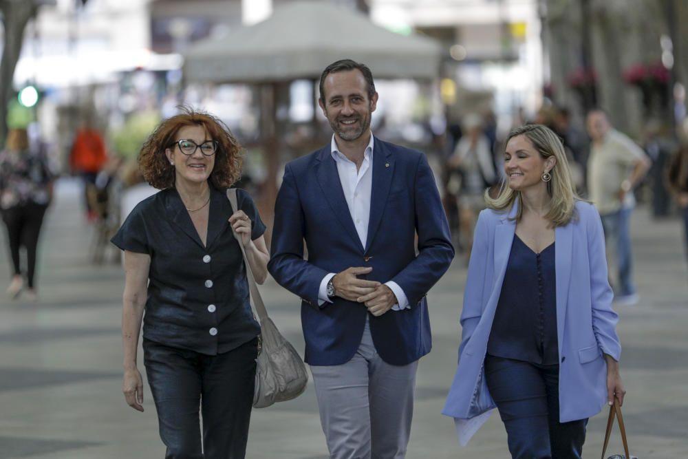 Bauzá, con sus ciudadanos en Palma