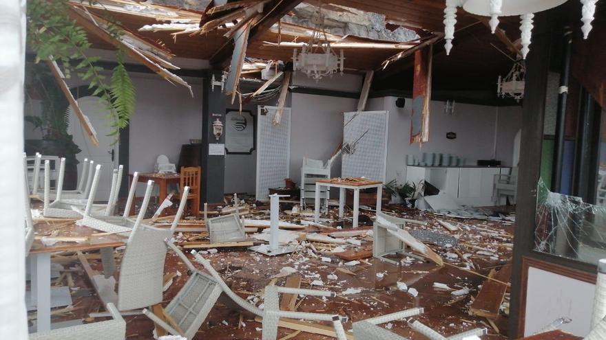 El Kiosko Montecarlo de Tazacorte, destrozado