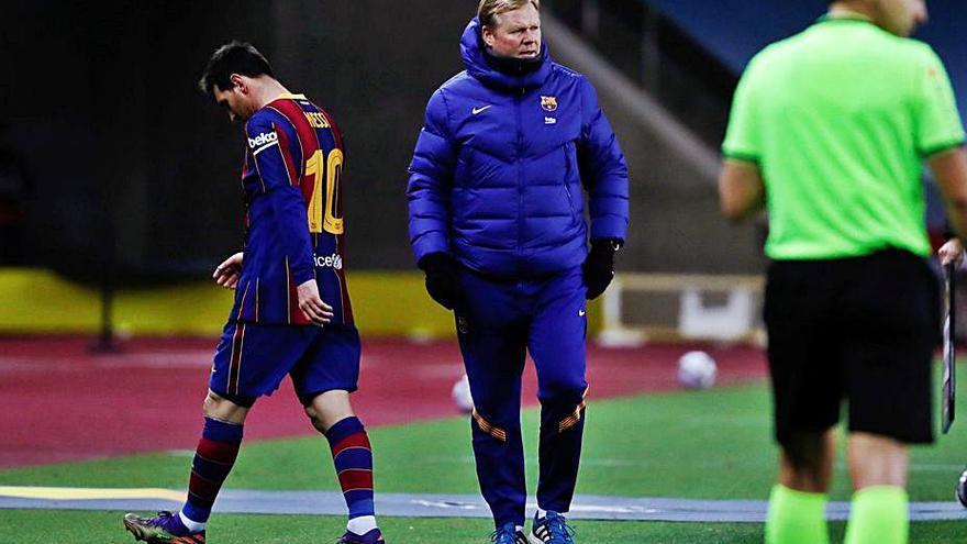 El Barça recurre la roja a Messi
