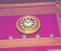 El reloj del salón de plenos.