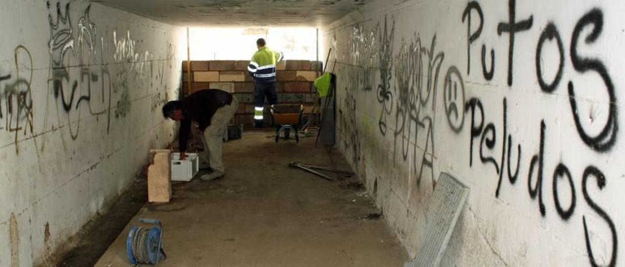 Los trabajos en el túnel comenzaron ayer.