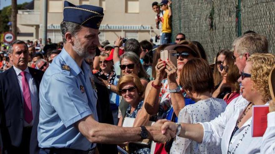 El Rey preside el festival aéreo de la Academia del Aire en Murcia