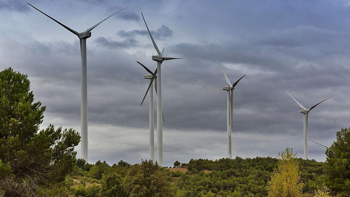 Un parque eólico para la producción de energía limpia.