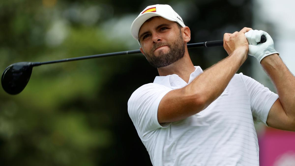 El golfista catalán Adri Arnaus.