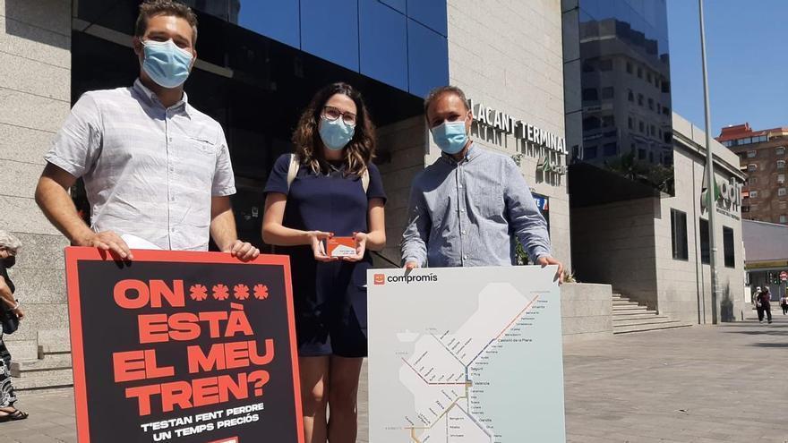 Compromís denuncia que Adif y Renfe han censurado su campaña sobre la falta de inversiones