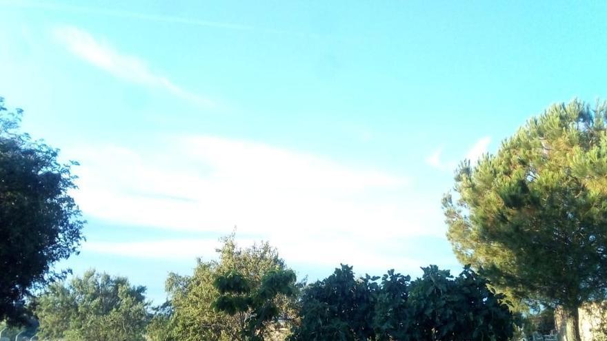 El cielo de Zamora, a primera hora de esta mañana.