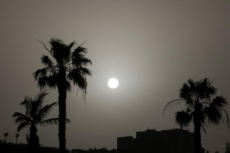 14.02.20. Las Palmas de  Gran Canaria. Calima en la ciudad. Foto Quique Curbelo  | 14/02/2020 | Fotógrafo: Quique Curbelo