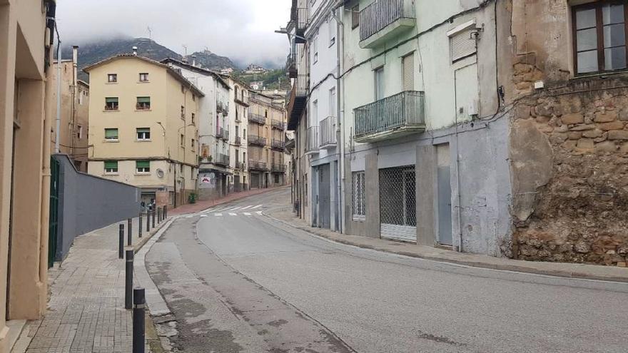 Berga tindrà reurbanitzat un tram de la Ronda Moreta a la tardor