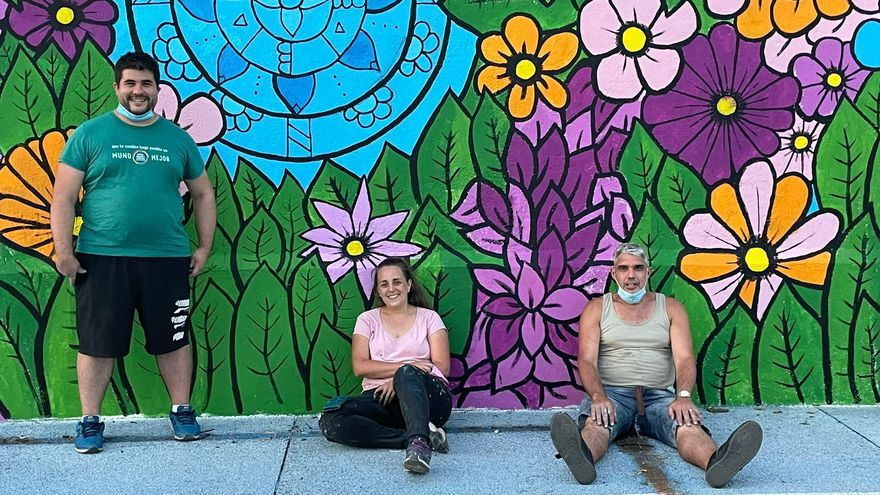 Un mural para visibilizar en Plasencia