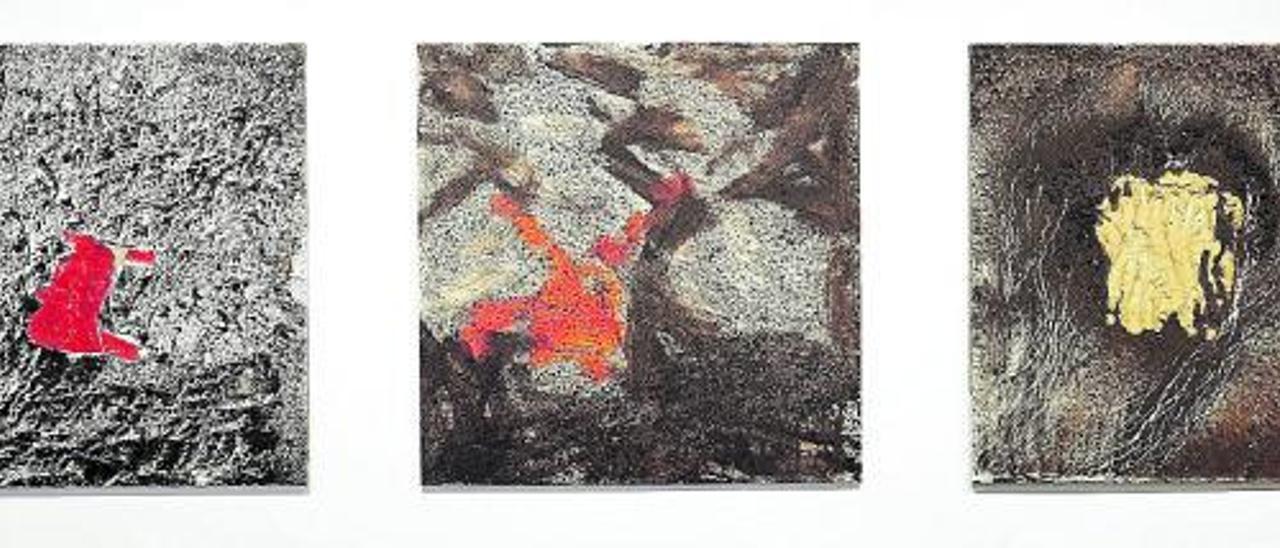 Distintas obras de Vicente Pastor expuestas en la galería Cornión.