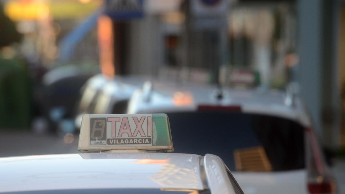 Un taxi, en Vilagarcía de Arousa